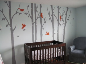 Birch tree nursery