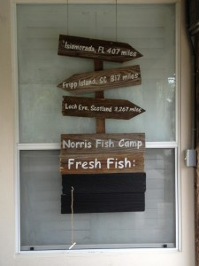 Norris fish camp sign