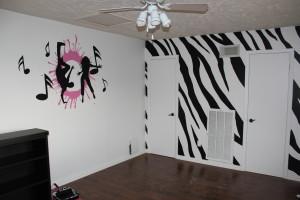 Zebra print room