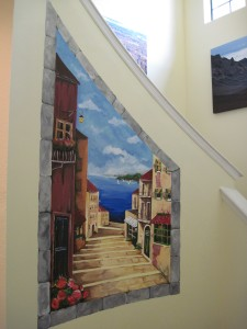 mediterranean curved staircase