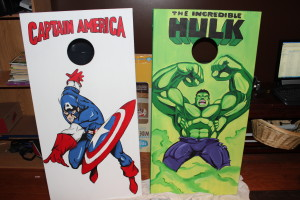 super hero cornhole